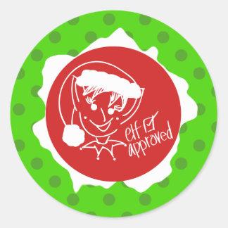 Sticker Rond Elf a approuvé