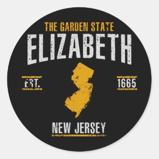 Sticker Rond Elizabeth
