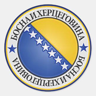 Sticker Rond Emblème rond de la Bosnie-Herzégovine