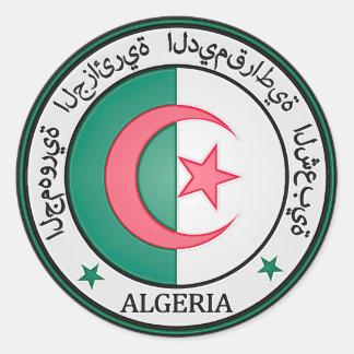 Sticker Rond Emblème rond de l'Algérie