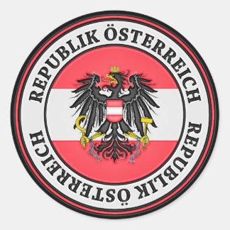 Sticker Rond Emblème rond de l'Autriche