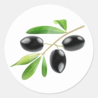 Sticker Rond Embranchez-vous avec les olives noires
