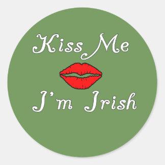 Sticker Rond Embrassez-moi que je suis irlandais