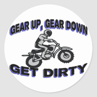 Sticker Rond Embrayez obtiennent le motocross sale