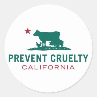 Sticker Rond Empêchez l'ensemble d'autocollant de CA de cruauté
