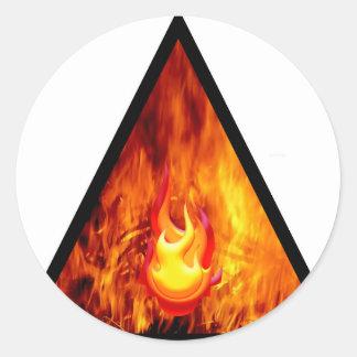 Sticker Rond Énergie de flamme