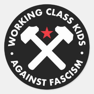 Sticker Rond Enfants de classe ouvrière contre l'autocollant de