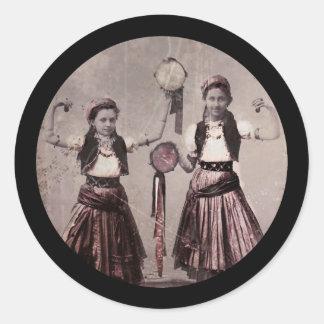 Sticker Rond Enfants de gitan de trio