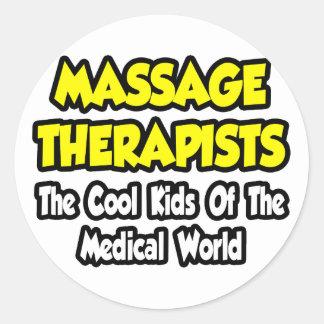 Sticker Rond Enfants frais de thérapeutes de massage… de monde