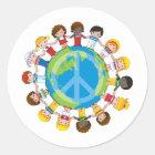 Sticker Rond Enfants globaux