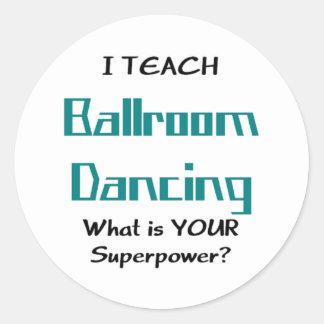 Sticker Rond enseignez la danse de salle de bal