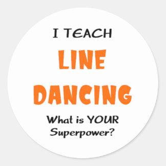 Sticker Rond enseignez la ligne danse