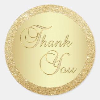 Sticker Rond Enveloppe élégante de Merci de parties