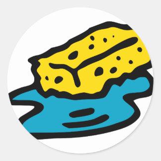 Sticker Rond Éponge de trempage