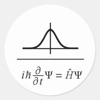 Sticker Rond Équation de Schrödinger