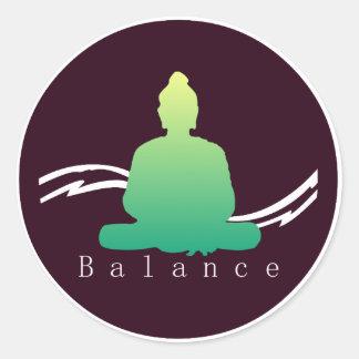 """Sticker Rond """"Équilibre"""" beau Bouddha"""