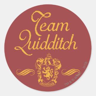 Sticker Rond Équipe QUIDDITCH™ de Harry Potter  