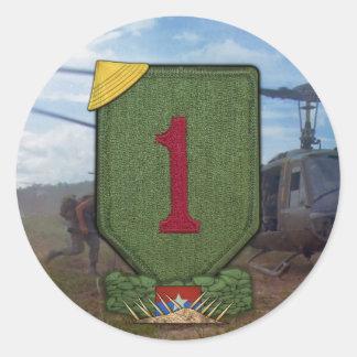 Sticker Rond ęr Correction de guerre de Vietnam de division