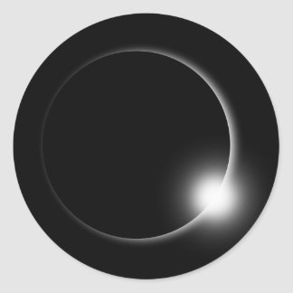 Sticker Rond Éruption chromosphérique de fusée de Sun d'éclipse