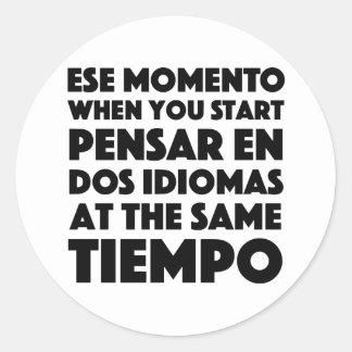 Sticker Rond Ese Momento quand vous commencez l'étudiant de