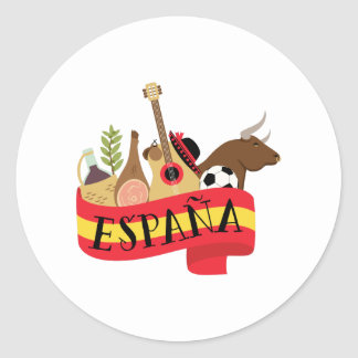 Sticker Rond Espana