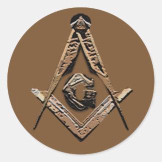 Sticker Rond Esprits maçonniques (d'or)