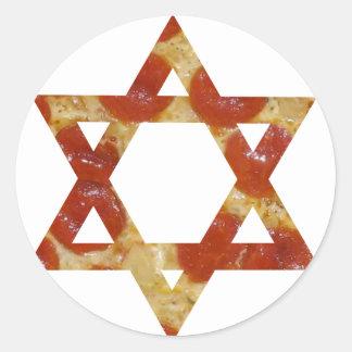 Sticker Rond étoile de David de pizza