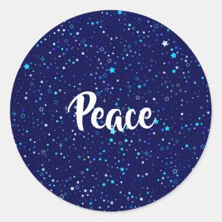 Sticker Rond Étoiles bleues 2