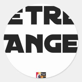 Sticker Rond ÊTRE ANGE - Jeux de mots - Francois Ville