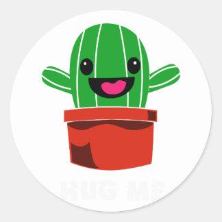 Sticker Rond Étreignez-moi - cactus