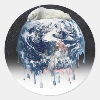 Sticker Rond Étreinte d'ours de la terre