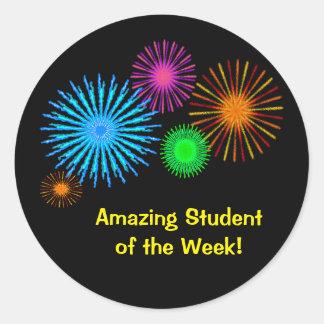Sticker Rond Étudiant extraordinaire de la semaine