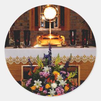 Sticker Rond Eucharistie sainte/sacrement béni