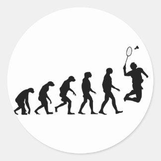 Sticker Rond Évolution de badminton