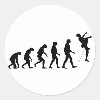 Sticker Rond Évolution de l'alpinisme