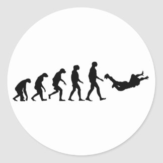 Sticker Rond Évolution de parachutisme