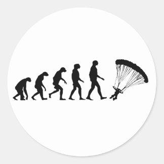 Sticker Rond Évolution du parachutage