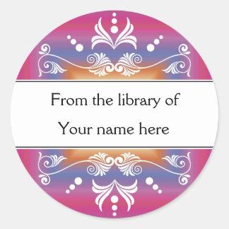 Sticker Rond Ex-libris personnalisés - colorés de la