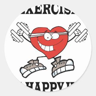 Sticker Rond exercice heart2
