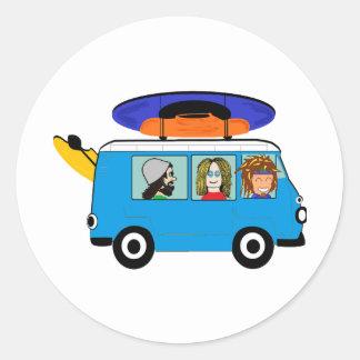Sticker Rond Expédition de kayak