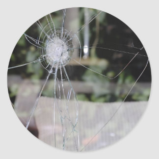 Sticker Rond Exposition-fenêtre cassée