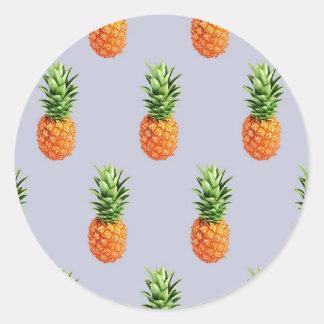 Sticker Rond Express d'ananas