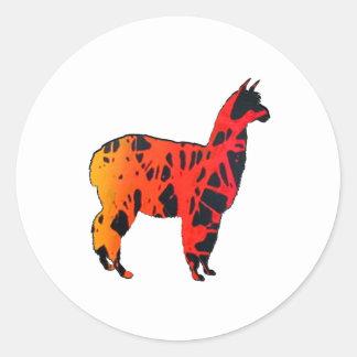 Sticker Rond Expressions de lama