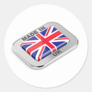 Sticker Rond Fabriqué au Royaume-Uni