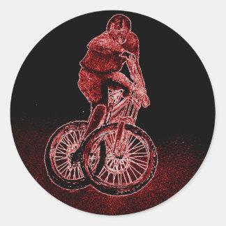 Sticker Rond Faire du vélo de montagne