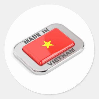 Sticker Rond Fait dans l'insigne brillant du Vietnam