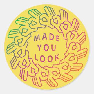 Sticker Rond Fait vous le gradient de cercle de geste de main