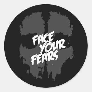 Sticker Rond faites face à vos craintes