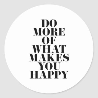 Sticker Rond Faites-vous la citation de motivation minimale