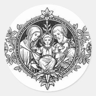 Sticker Rond Famille sainte Jésus Mary St Joseph